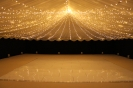 Fairy lights draping