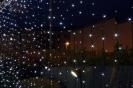 Fairy lights draping