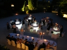 effect lighting ceremony in the Tuscan Table