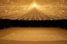 fairy light canopy on the dance floor