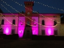 fairy lights in a castle location tuscany