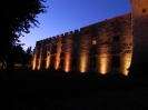 LED color changing wall of the Castello del Meleto  in Tuscany