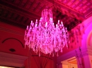 illuminaziome chandelier and ceiling to wedding party